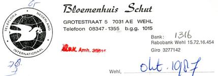 0043-1316 Bloemenhuis Schut