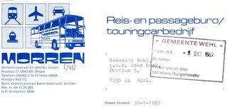 0043-1318 Reisbureau Morren