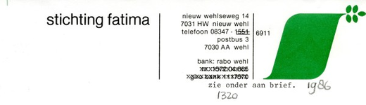 0043-1320 Stichting Fatima