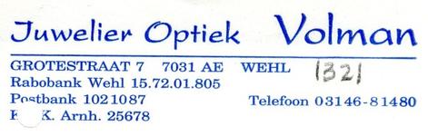 0043-1321 Juwelier Optiek Volman