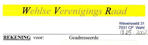 0043-1325 Wehlse Verenigings Raad
