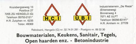 0684-0891a H.C.I. Bouwmaterialen, Keukens, Sanitair, Tegels, Open haarden enz. - Betonindustrie