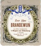 0684-1702 Zeer fijne brandewijn. Slijterij-wijnhandel 't Wapen van Oldenburg. J. Staijen
