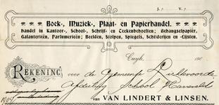 0849-3743 Van Lindert & Linsen, boek- muziek-, plaat- en papierhandel - handel in kantoor-, school-, schrijf- en ...