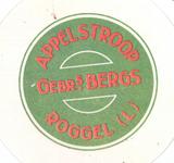 158-10 Beker-rondel: Appelstroop - Gebrs. Bergs - Roggel (L)