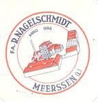 158-5 Beker-rondel: Fa. R. Nagelschmidt, Meerssen (L). Anno 1898
