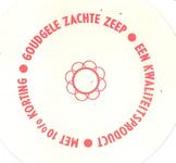 158-6 Beker-rondel: Goudgele Zachte Zeep. Een kwaliteitsproduct. Met 10 % korting