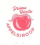 158-7 Beker-rondel: Prima Rinse Appelstroop