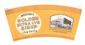 159-11 Brugstans: Wester's Golden Extra Lys Sirup. N.V. Centrale Suiker Maatschappij Amsterdam