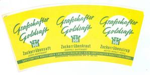 159-3 Brugstans: Grafschafter Goldsaft. Zuckerrübensaft. Doppelt raffiniert. Grafschafter Krautfabrik GMBH Meckenheim ...