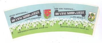 159-5 Brugstans: Op uw boterham ... Du vrai sirop de Liege ...een lekkernij! Siroop van peren. Sur vos tartines ... Du ...