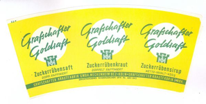 159-6 Brugstans: Grafschafter Goldsaft. Zuckerrübensaft. Doppelt raffiniert. Grafschafter Krautfabrik GMBH Meckenheim ...
