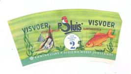 159-7 Brugstans: P. Sluis. Visvoer. Wetenschappelijk samengesteld. Koninklijke P. Sluis N.V. Weesp (Holland)