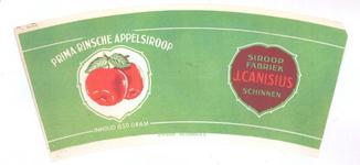159-8 Brugstans: Prima Rinsche Appelstroop. Siroopfabriek J. Canisius, Schinnen