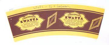 159-9 Brugstans: Chocopasta KWATTA is licht verteerbaar en bijzonder aanbevolen voor boterham, gebak, tussengerechten ...