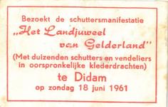 078 Bezoekt de schuttersmanifestatie 'Het Landjuweel van Gelderland' (Met duizenden schutters en vendeliers in ...