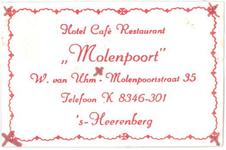 080 Hotel café restaurant 'Molenpoort', W. van Uhm
