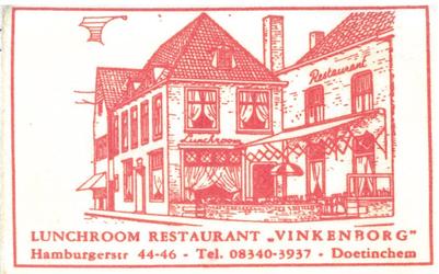 083 Lunchroom Restaurant 'Vinkenborg'