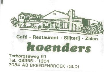 086 Café restaurant slijterij zalen Koenders