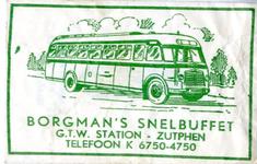 016 Borgman's snelbuffet. G.T.W. Station