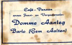 022 Café Pension annex feest- en vergaderzalen Domme Aanleg