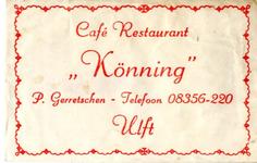 047 Café restaurant 'Könning'. P. Gerretschen