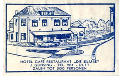 048 Hotel café restaurant 'De Sluis'. J. Gunsing. Zalen tot 300 personen