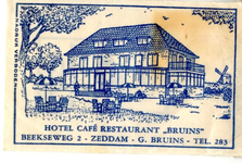 055 Hotel café restaurant 'Bruins'. G. Bruins