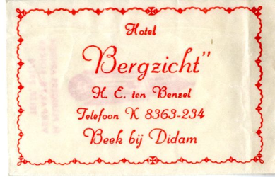 057 Hotel 'Bergzicht'. H.E. ten Benzel