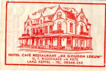 058 Hotel café restaurant 'De Gouden Leeuw'. D.F. Radstaake v.h. Kets