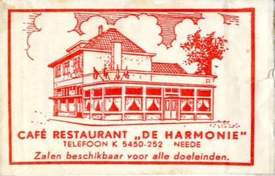 060 Café restaurant 'De Harmonie'. Zalen beschikbaar voor alle doeleinden