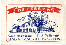 062 Café restaurant 'De Pessink'. T.J. Willemink