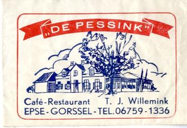 062 Café restaurant 'De Pessink'. T.J. Willemink