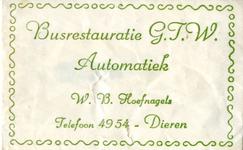 063 Busrestauratie G.T.W. Automatiek. W.B. Hoefnagels
