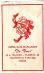066 Hotel café restaurant 'De Post'. H.A. Franken