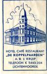 069 Hotel café restaurant 'De Koppelpaarden'. A.B.J. Kruip