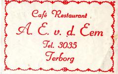 071 Café restaurant A.E. v.d. Eem