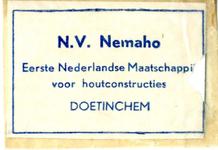 072 NV Nemaho. Eerste Nederlandse Maatschappij voor houtconstructies