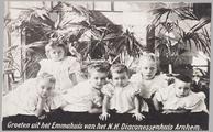 304 Groeten uit het Emmahuis van het N.H. Diaconessenhuis Arnhem., 1912-05-27