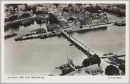 5510 Arnhem, Rijn met Schipbrug, ca. 1925