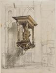 2894 Arnhem - Eusebius (of Grote) kerk - interieur - grafmonument, ca. ca. 1876