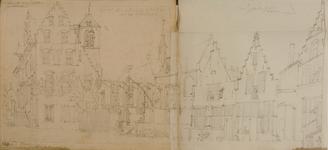 4186-0023r Raadhuis en kerk van St. Jan de Doper te Roosendaal, [1767-1783]