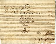 2587-0001 Symphonia à 4 ex C, z.j [ca 1800]