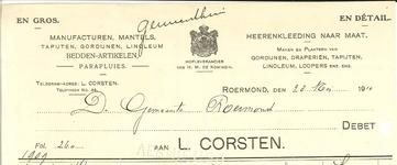249 Corsten, L., 1910