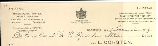 250 Corsten, L., 1919