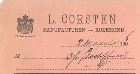 251 Corsten, L., 1960