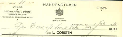 264 Corsten, L., 1946