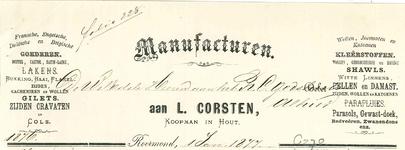 270 Corsten, L., 1877