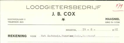 289 Cox, J. B., 1961