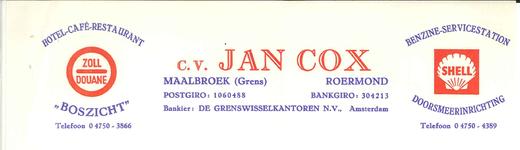 293 Cox, Jan, Boszicht